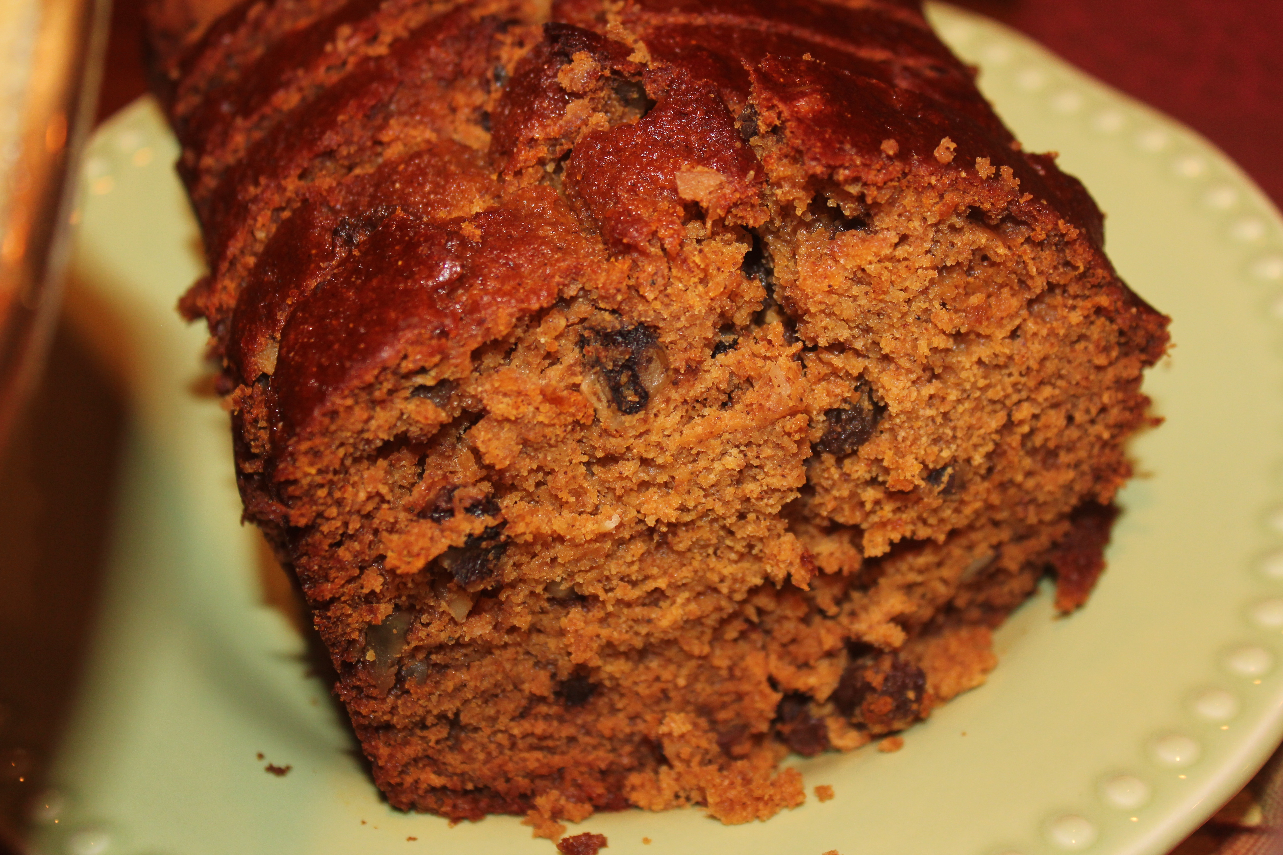 Pumpkin Raisin Nut Bread with Honey and Maple Syrup ...